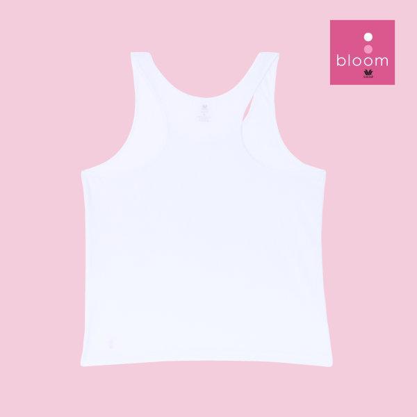 Wacoal Bloom Step 1 รุ่น WH6B91 เสื้อกล้ามตัวยาว แบบสปอร์ต สีขาว (WH)