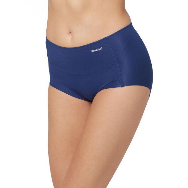วาโก้ กางเกงในไร้ขอบ เต็มตัว (Wacoal Oh my nude Short Panty) รุ่นWU4199 Set 3 ชิ้น สีน้ำเงิน (BU)