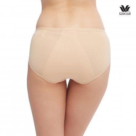 โอบกระชับ ไม่ซึมเปื้อน สำหรับกลางคืน Wacoal Panty Feminine Protection : รุ่น Hygieni WU5202 Set 2 ชิ้น สีเนื้อ (NN)