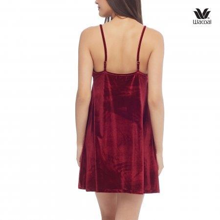 Wacoal Night wear รุ่น WN6C37 สีแดงเข้ม (DR)