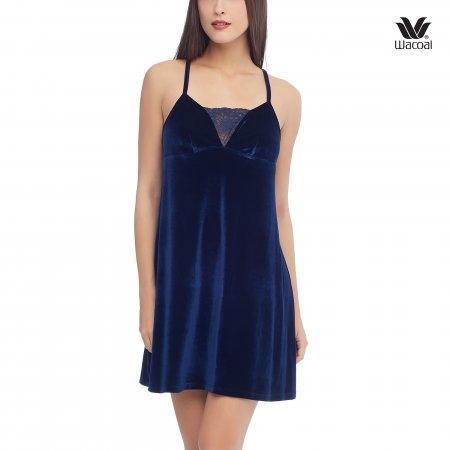 Wacoal Night wear รุ่น WN6C37 สีน้ำเงิน (BU)