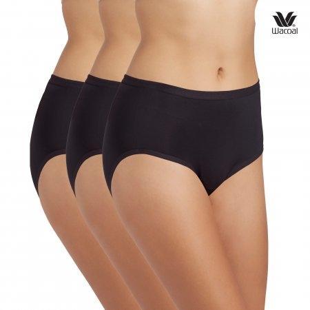 Wacoal Short Panty Set 3 ชิ้น รุ่น WU4M01 สีดำ (BL)