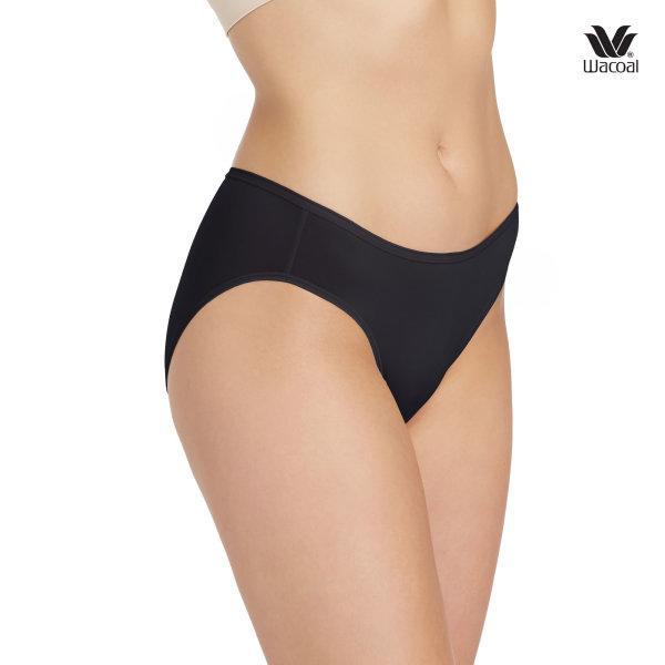 Wacoal Super Soft Basic Bikini Panty Set 3 ชิ้น รุ่น WU2811 สีดำ (BL)