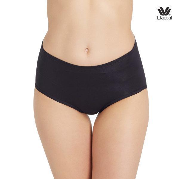Wacoal Hygieni Night Short Panty Set 2 ชิ้น รุ่น WU5041 สีดำ (BL)