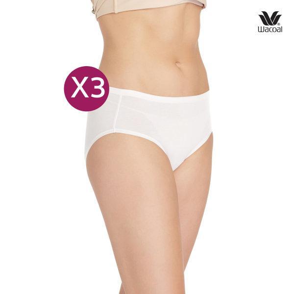 Wacoal Half Panty กางเกงในรูปแบบครึ่งตัว เซ็ต 3 ชิ้น รุ่น WU3722 สีครีม (CR)