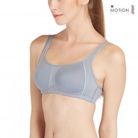 Wacoal Motion Wear Bra รุ่น WR1487 สีเทา (GY)