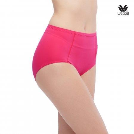 ช่วยกระชับหน้าท้อง ให้เนียบเรียบ Wacoal Panty Secret Support : รุ่น H-fit WU4836 Set 2 ชิ้น สีชมพูอมส้ม (RO) รูปแบบ Short