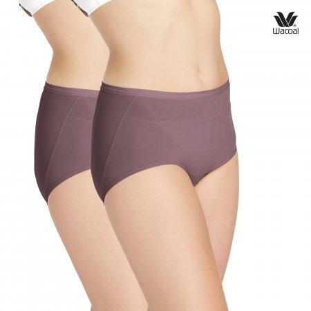 บั้นท้ายย้วย เข้าวิน ช่วยกระชับได้ เลือกใส่ U-Fit Wacoal Panty Secret Support : รุ่น U-fit WU4937 Set 2 ชิ้น สีน้ำตาลไหม้ (BT) รูปแบบ Short