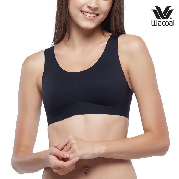 วาโก้ S M L บรา Gen ใหม่ เลือกง่าย ใส่สวย Wacoal Go Girls รุ่น WB3Y13 สีดำ (BL)
