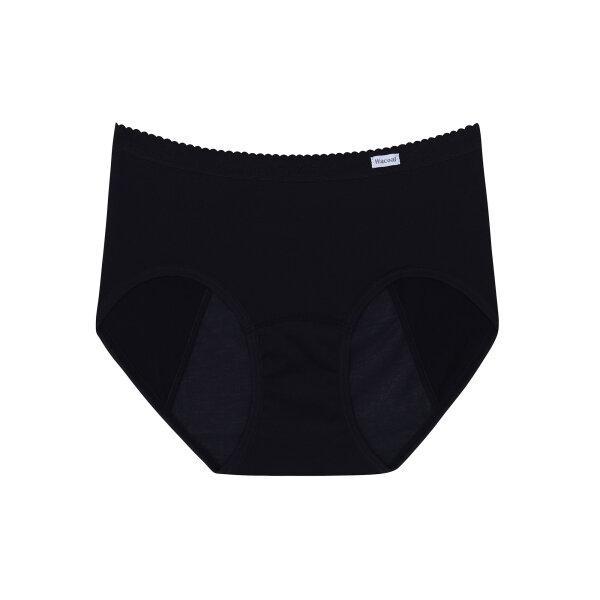 วาโก้ กางเกงในอนามัย ครึ่งตัว (Wacoal Hygieni Night Short Panty)  รุ่น WU5E00 Set 3 ชิ้น สีดำ (BL)