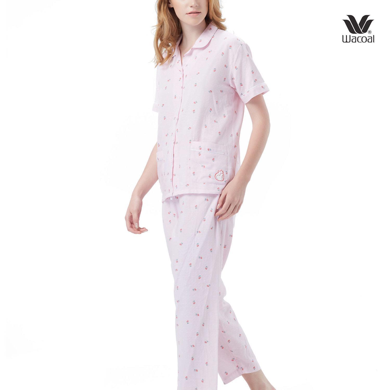 Wacoal Night Wear Summer Treasure Collection ชุดนอนวาโก้ รุ่น WN9M13 สีชมพู (PI)