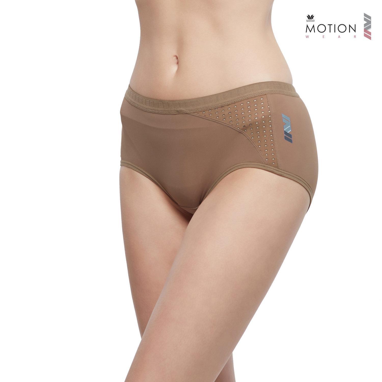 วาโก้ กางเกงในสำหรับออกกำลังกาย Wacoal Motion Wear รุ่น Athleisure WR6519 สีน้ำตาล (BR)