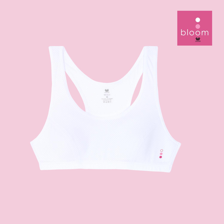 Wacoal Bloom Step 2 รุ่น WH6L21 เสื้อกล้ามครึ่งตัว แบบสปอร์ต สีขาว (WH)