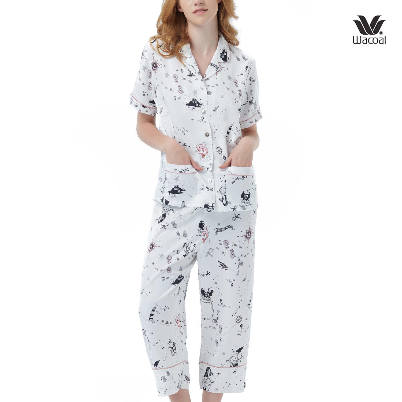 Wacoal Night Wear Summer Treasure Collection ชุดนอนวาโก้ รุ่น WN7C65 สีขาว (WH)