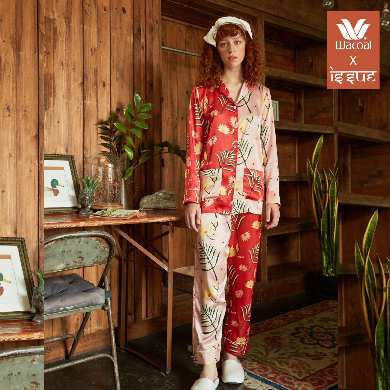 WACOAL x ISSUE Nightwear collection รุ่น WN7D01 สีแดง (RD)