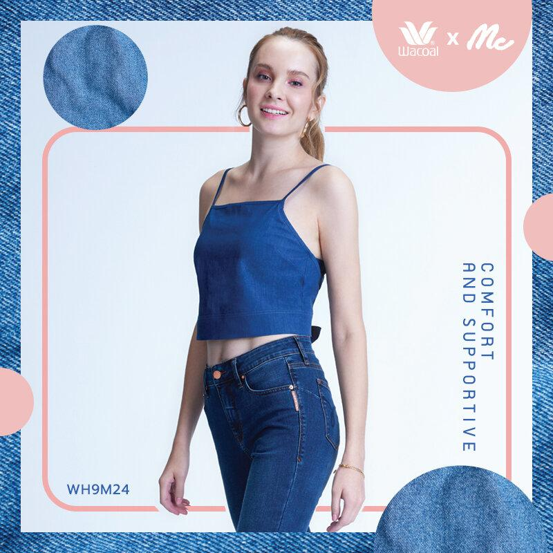 Wacoal x Mc Jeans ให้คุณใส่สวย ครบตัวเดียวจบ รูปแบบ Limited Edition Collection รุ่น WH9M24 สีน้ำเงิน (BU)