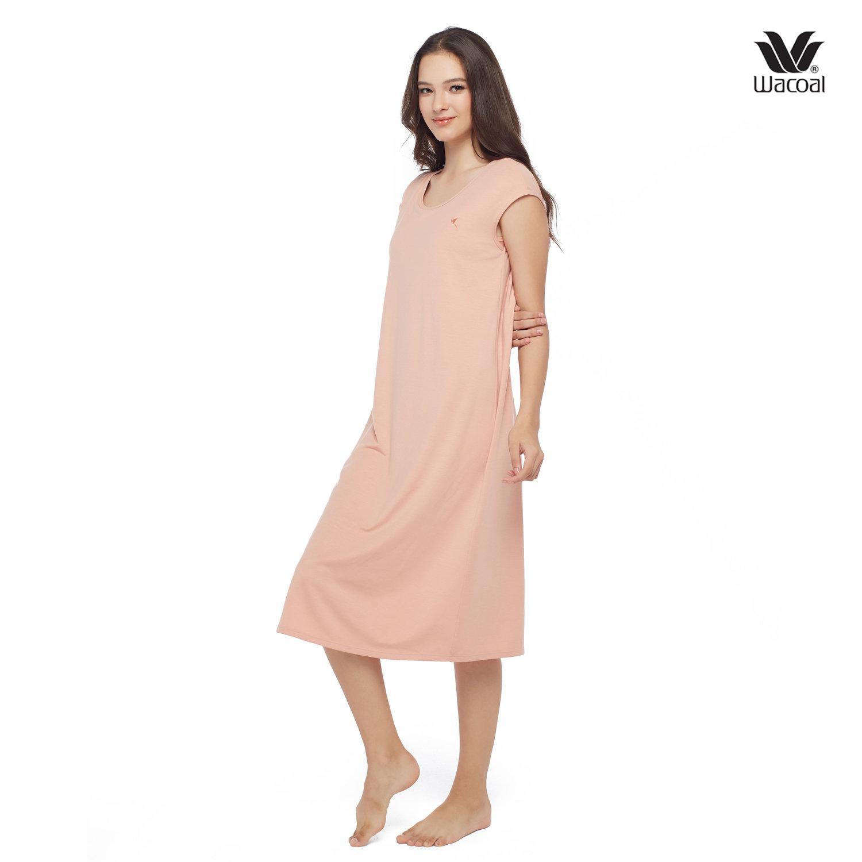 วาโก้ ชุดนอน Wacoal Night Wear รุ่น WN6M04 สีเนื้ออมส้ม (SP)