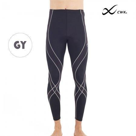 CW-X Pro Man รุ่น IC9297 พื้นดำแต่งผ้าเทา(GY) ขา 9 ส่วน