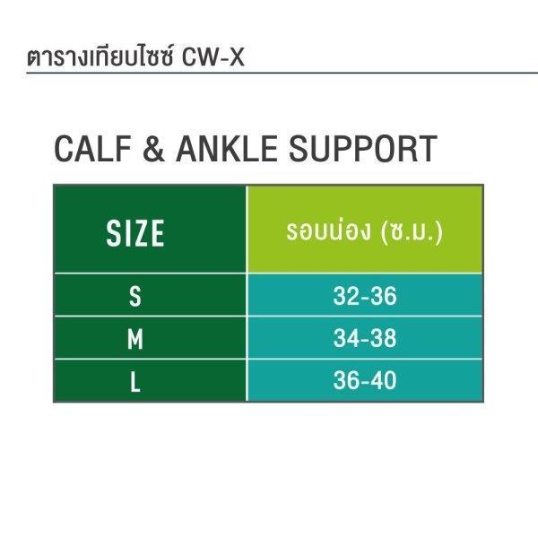 CW-X Calf Support Speed Model กระชับน่อง รุ่น IC3371 สี GY (unisex)
