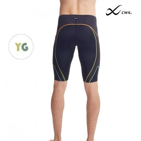 CW-X Stabilyx Ventilator Tri-Shorts Man รุ่น IC925T สีแถบเหลืองเขียว (YG)