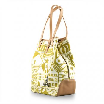 Sketch house Holla Tote Yellow