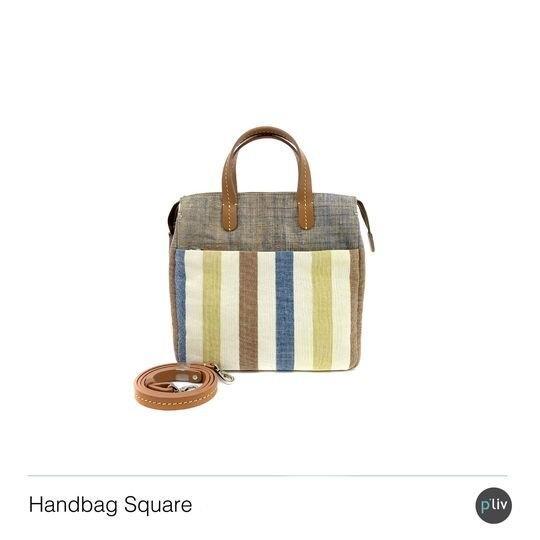 Handbag Square Natural Strip