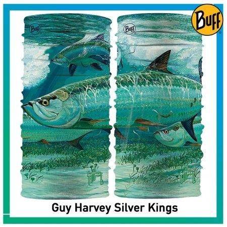 Buff High UV Guy Harvey Silver Kings