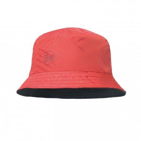 Travel Bucket Hat Collage Red/Black [UV Cap Buff]