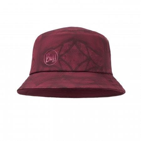 Trek Bucket Hat Calyx Dark Red (UV Cap Buff)