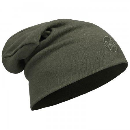 Heavyweight Merino Wool Hat Loose Solid Forest Night