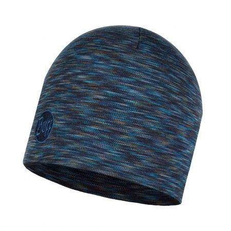 Heavyweight Merino Wool Hat Regular Denim Multi Stripes