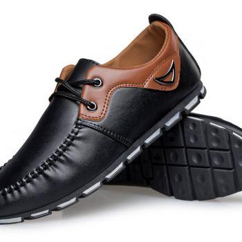 Black Brown รุ่นLP420 รองเท้าหนังทรงสปอร์ต