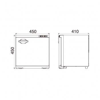 ตู้อบผ้าร้อน รุ่นTAIJI HC-38 Side Open