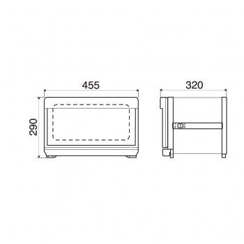 ตู้อบผ้าร้อน รุ่นTAIJI HC-12 UVe (Sterilizing UV Lamp)