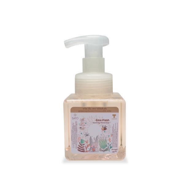 วิป โฟมล้างมือ ฟู้ดเกรด มีส่วนผสมสารออแกนิค ซาโตะ อิโม เฟรช  SATO Emo fresh foaming hand soap 250 ml.