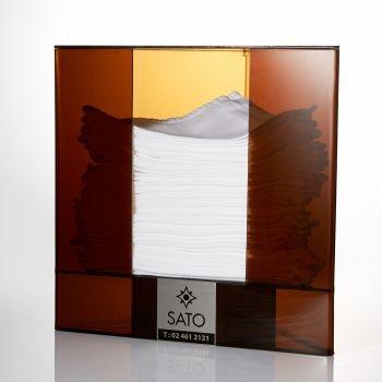 กล่องใส่ผ้าเช็ดมือเนปกิ้น ขนาด28x21x28 cm. 1 pcs