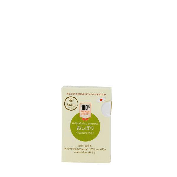 ผ้าเปียกเช็ดผิว ซาโตะ 5 ชิ้น ต่อกล่อง x 20 กล่อง (Natural pulp 100%) FGM-CWT-5