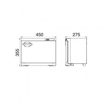ตู้อบผ้าร้อน รุ่นTAIJI HC-18 (S) Side Open