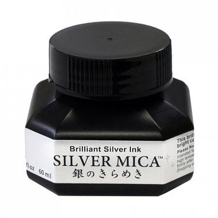 Kuretake Silver Mica Ink (60ml.)