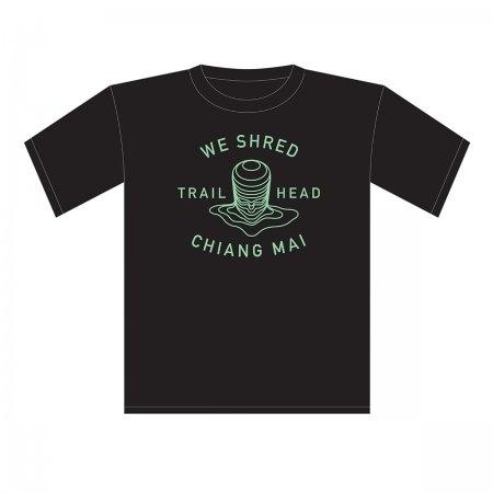 Trailhead T Shirt Black - We shred Logo