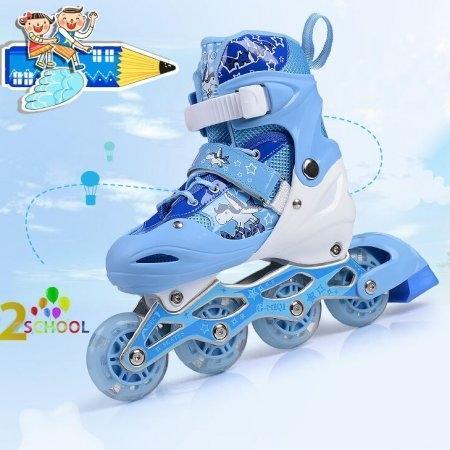 รองเท้าสเก็ต G-miqi สีน้ำเงิน size 35-38 แถมฟรี อุปกรณ์ป้องกัน ครบชุด