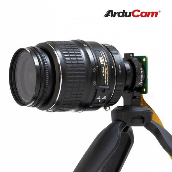 [Raspberry Pi HQ] Arducam Lens Mount Adapter for Nikon F-Mount Lens to C-Mount