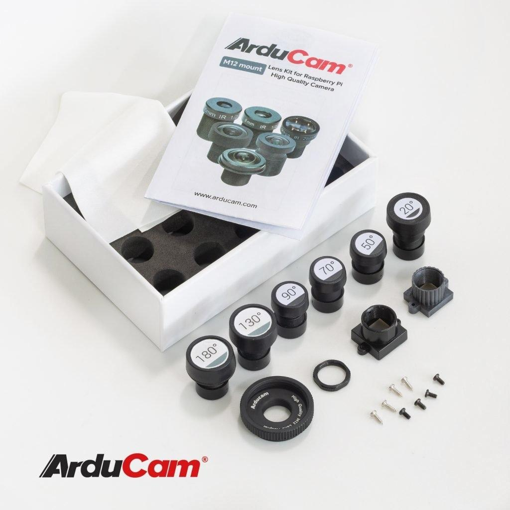 [Raspberry Pi HQ] Arducam M12 Lens Kit for Raspberry Pi High Quality Camera