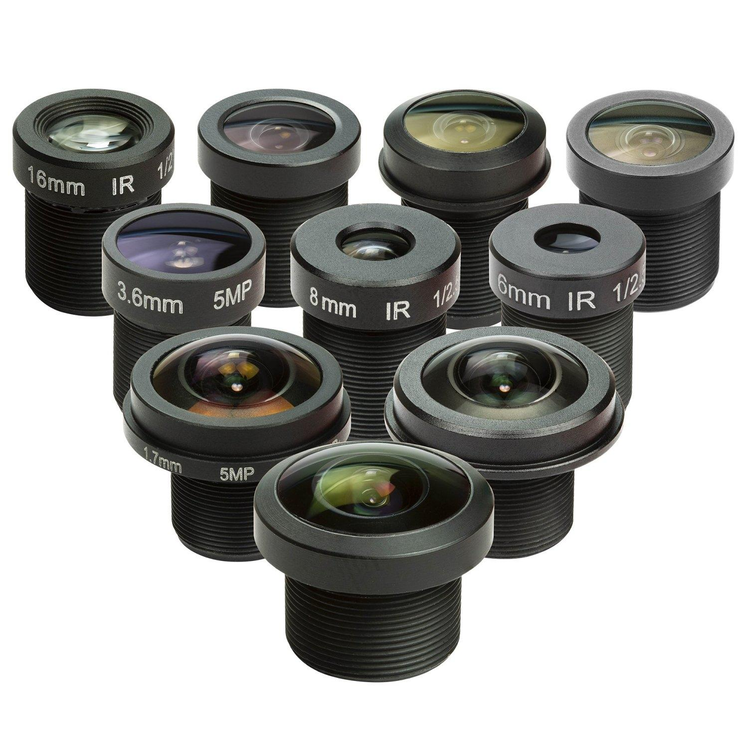 10x Arducam M12 mount camera lens kit for Arduino and Raspberry Pi camera