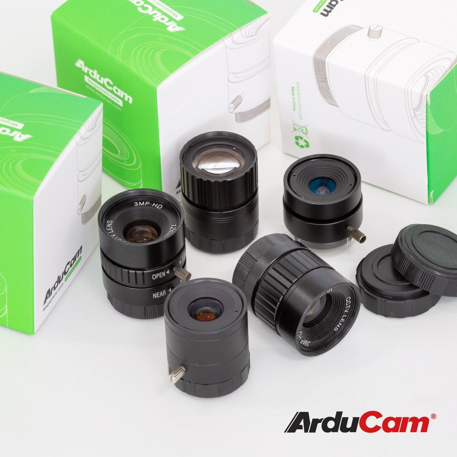 [Raspberry Pi HQ] Arducam CS-Mount Lens Kit for Raspberry Pi HQ Camera (Type 1/2.3)