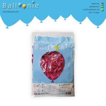 ลูกโป่ง 6 นิ้ว สีชมพูบานเย็นมุก(1 ถุง 100 ใบ)