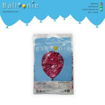 ลูกโป่ง 6 นิ้ว สีชมพูบานเย็นธรรมดา(1 ถุง 100 ใบ)