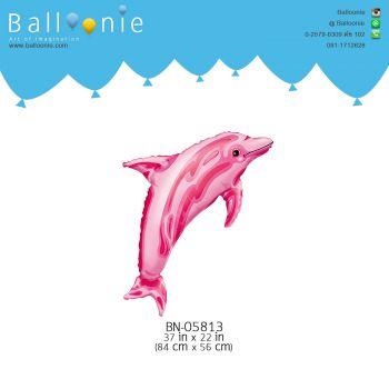 ลูกโป่งรูปสัตว์ ปลาโลมาสีชมพู