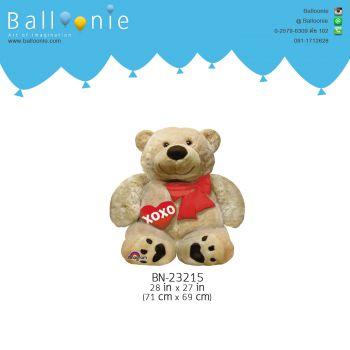 ลูกโป่ง หมี XOXO