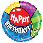 ลูกโป่ง Happy Birthday Mighty Bright